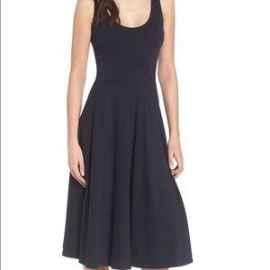 Leith Stretch Knit Midi Dress WITH POCKETS!
